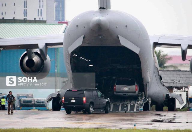 [NÓNG] Cadillac One The Beast cùng dàn xe phục vụ Tổng thống Trump tại APEC đổ bộ Đà Nẵng - Ảnh 6.