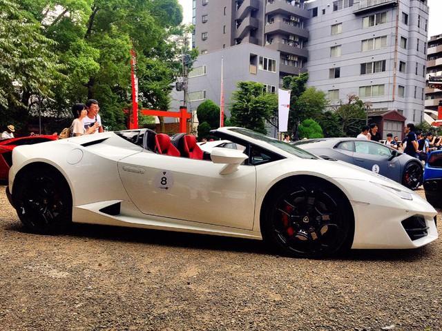 Xem dàn siêu xe Lamborghini khủng của các tay chơi Nhật tụ tập - Ảnh 8.