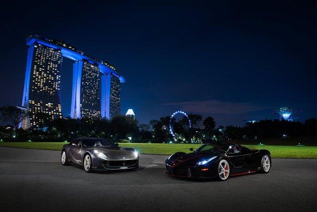 157 chiếc Ferrari diễu hành trên các con phố tại Singapore gây nên cảnh tắc đường - Ảnh 18.