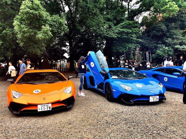 Xem dàn siêu xe Lamborghini khủng của các tay chơi Nhật tụ tập - Ảnh 2.