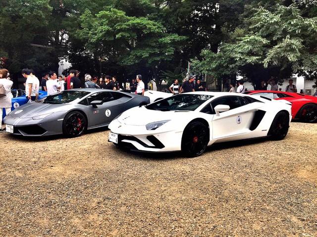 Xem dàn siêu xe Lamborghini khủng của các tay chơi Nhật tụ tập - Ảnh 6.