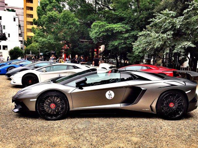 Xem dàn siêu xe Lamborghini khủng của các tay chơi Nhật tụ tập - Ảnh 7.