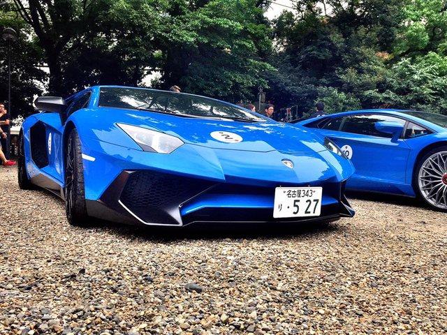 Xem dàn siêu xe Lamborghini khủng của các tay chơi Nhật tụ tập - Ảnh 4.