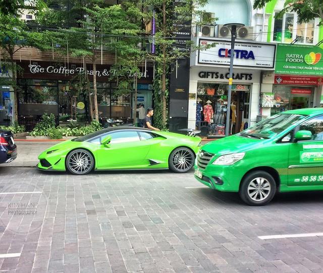 Lamborghini Huracan xanh cốm của đại gia kín tiếng quận 2 tiếp tục được độ khủng - Ảnh 2.