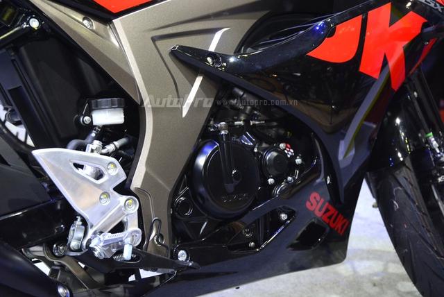 Cận cảnh Suzuki GSX-R150, đối thủ chính của Yamaha R15 và Honda CBR150R - Ảnh 14.