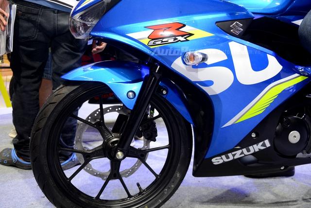 Cận cảnh Suzuki GSX-R150, đối thủ chính của Yamaha R15 và Honda CBR150R - Ảnh 16.