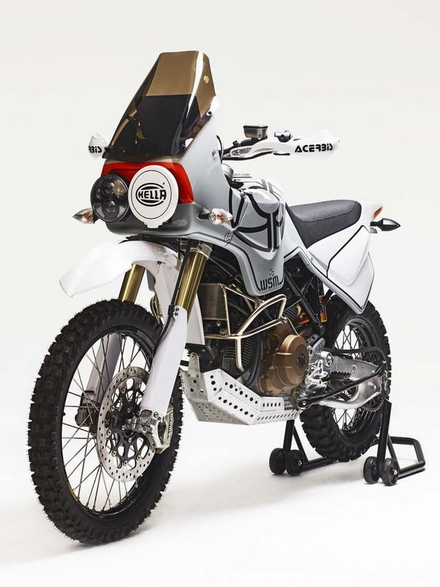Ducati Hypermotard 1100 biến hình thành xe adventure chính hiệu - Ảnh 1.