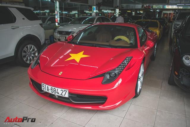 Ferrari 458 Italia dán decal ủng hộ U23 Việt Nam trong trận chung kết - Ảnh 1.