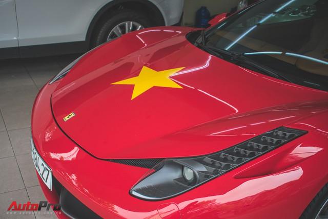 Ferrari 458 Italia dán decal ủng hộ U23 Việt Nam trong trận chung kết - Ảnh 4.