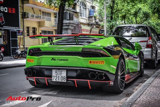 Lamborghini Huracan khoác decal phong cách trường đua GT3 EVO tại Sài Gòn - Ảnh 15.
