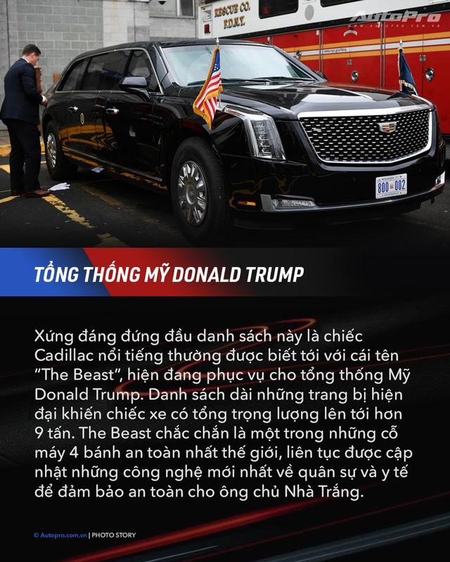 10 xe chuyên chở nguyên thủ quốc gia - Xe mới của Kim Jong Un ngầu không kém Donald Trump và Tổng thống Nga Putin - Ảnh 1.
