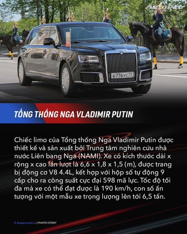 10 xe chuyên chở nguyên thủ quốc gia - Xe mới của Kim Jong Un ngầu không kém Donald Trump và Tổng thống Nga Putin - Ảnh 2.
