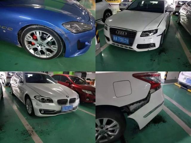 Lùi xe trong bãi gửi, nữ tài xế đâm liên tiếp 3 xe sang BMW, Audi và Maserati - Ảnh 2.