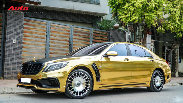 Mercedes-Benz S400 độ phong cách nhà giàu Dubai bất ngờ xuất hiện tại Hà Nội - Ảnh 1.