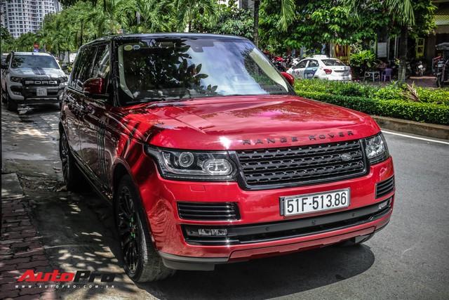 Range Rover Autobiography LWB màu đỏ độc đáo của đại gia sở hữu Lamborghini Huracan và McLaren 650S Spider - Ảnh 3.