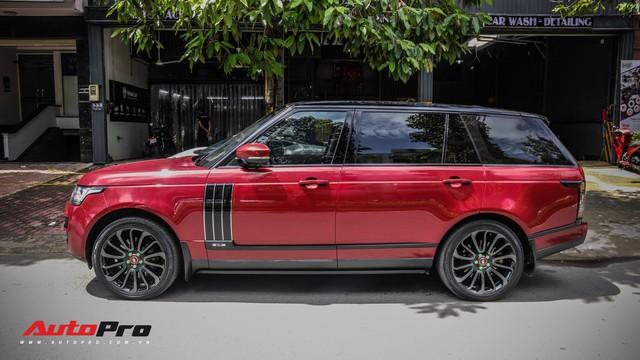 Range Rover Autobiography LWB màu đỏ độc đáo của đại gia sở hữu Lamborghini Huracan và McLaren 650S Spider - Ảnh 7.