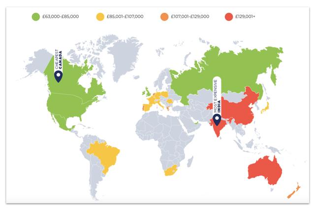 Đây chính là những quốc gia bán xe rẻ nhất và đắt nhất từng phân khúc - Ảnh 2.