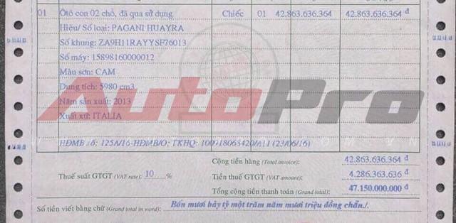 Lộ giá thật siêu xe Pagani Huayra của Minh nhựa: Khác xa con số 78 tỷ đồng - Ảnh 3.
