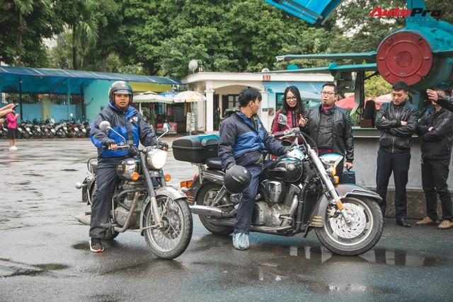 Bất chấp mưa rét, hàng chục biker diễu hành khuấy động Hà Nội dịp cuối tuần - Ảnh 5.