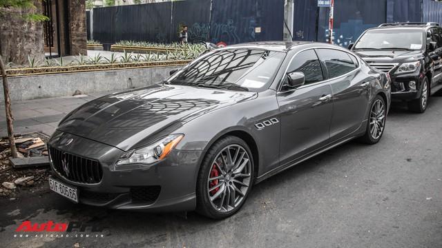 Maserati Quattroporte S Q4 của nhà chồng Tăng Thanh Hà bất ngờ xuất hiện trên phố Sài Gòn - Ảnh 3.
