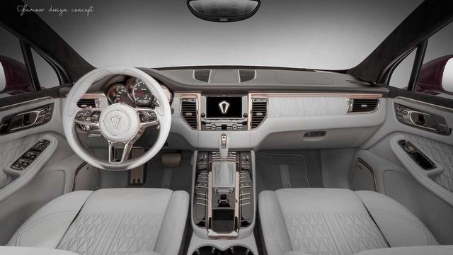 Nội thất vàng hồng cho dân chơi iPhone sở hữu Porsche Macan - Ảnh 1.