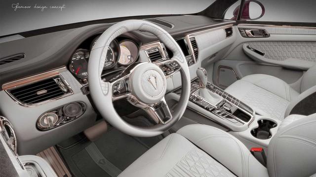 Nội thất vàng hồng cho dân chơi iPhone sở hữu Porsche Macan - Ảnh 3.