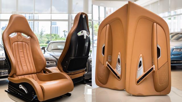 Bộ nội thất Bugatti Veyron 10 năm tuổi này có giá đắt ngang nhiều siêu xe có tiếng - Ảnh 2.