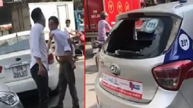Nam thanh niên đập đầu tài xế taxi vào đuôi xe sau va chạm: Hãng taxi đề nghị xử lý nghiêm