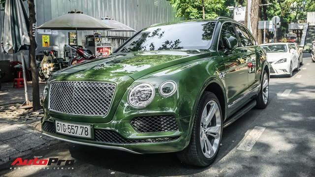 Bentley Bentayga màu xanh lục độc nhất Việt Nam tái xuất trên phố Sài Gòn - Ảnh 5.