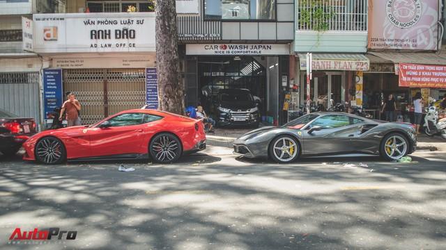 Bộ đôi siêu xe Ferrari làm đẹp đón Tết tại Sài Gòn - Ảnh 1.