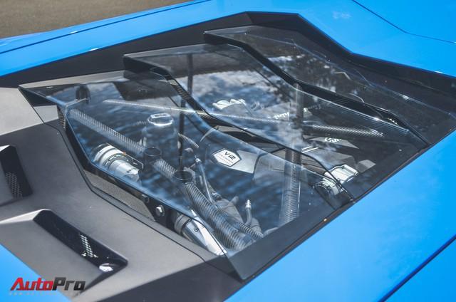 Siêu xe Lamborghini Aventador xanh dương độc nhất Việt Nam xuất hành đầu năm - Ảnh 10.