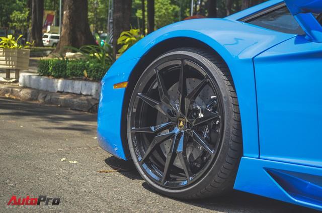 Siêu xe Lamborghini Aventador xanh dương độc nhất Việt Nam xuất hành đầu năm - Ảnh 6.