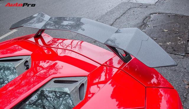Lamborghini Aventador Roadster độ cánh gió, mâm ADV.1 tại Hà Nội - Ảnh 4.