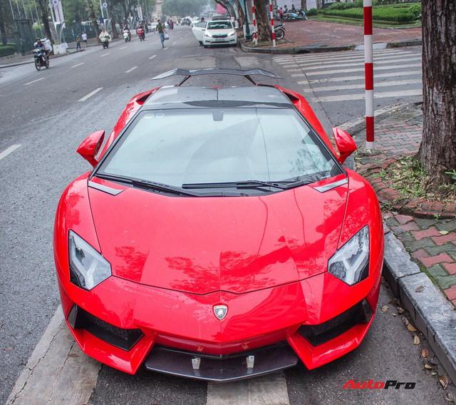 Lamborghini Aventador Roadster độ cánh gió, mâm ADV.1 tại Hà Nội - Ảnh 16.