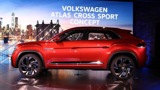 Volkswagen Atlas Cross Sport - Bản concept của mẫu SUV 5 chỗ hoàn toàn mới - Ảnh 4.