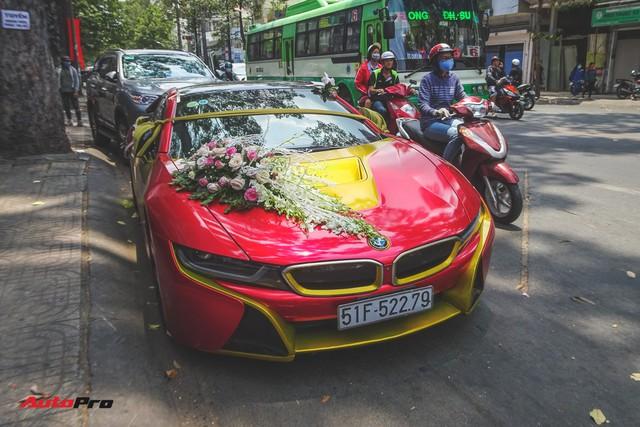 Xe hoa BMW i8 dán decal phong cách Iron Man tại Sài Gòn - Ảnh 1.