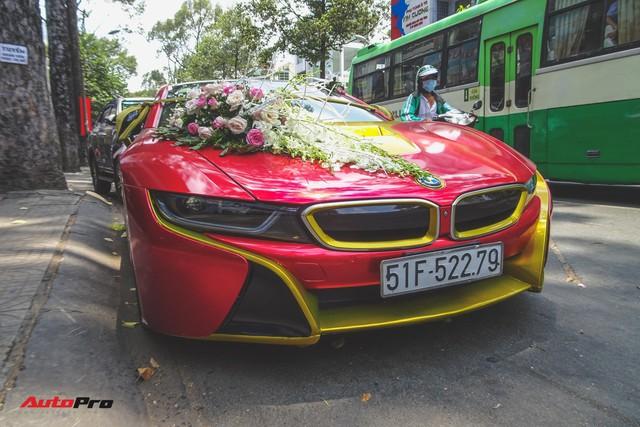 Xe hoa BMW i8 dán decal phong cách Iron Man tại Sài Gòn - Ảnh 2.