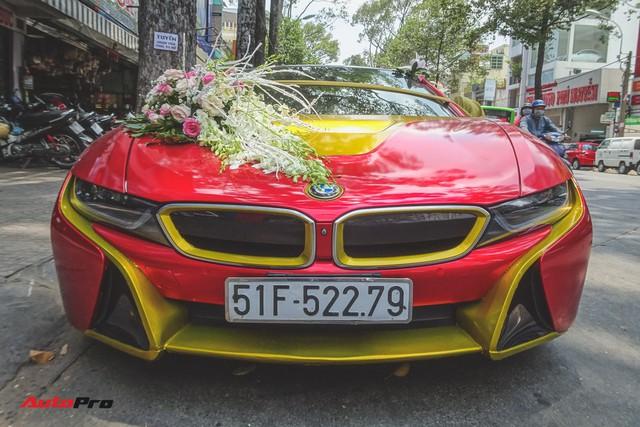 Xe hoa BMW i8 dán decal phong cách Iron Man tại Sài Gòn - Ảnh 3.