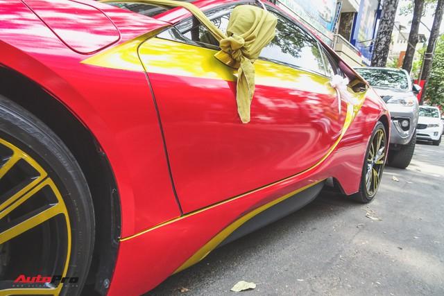 Xe hoa BMW i8 dán decal phong cách Iron Man tại Sài Gòn - Ảnh 6.
