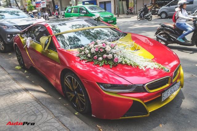 Xe hoa BMW i8 dán decal phong cách Iron Man tại Sài Gòn - Ảnh 11.