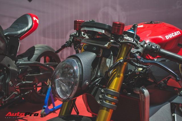 Tay chơi Việt biến Ducati Panigale 1199 S Tricolore hàng hiếm thành cafe racer kiểu hiện đại - Ảnh 2.