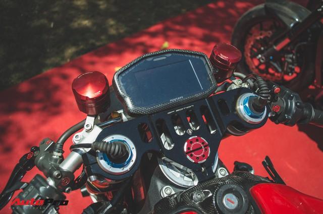 Tay chơi Việt biến Ducati Panigale 1199 S Tricolore hàng hiếm thành cafe racer kiểu hiện đại - Ảnh 4.
