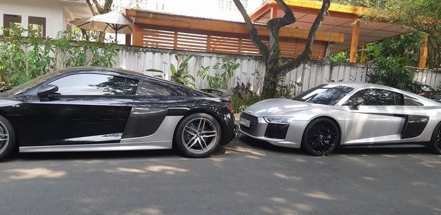 Bộ đôi Audi R8 V10 Plus của ông trùm cafe Trung Nguyên tại Sài Gòn - Ảnh 1.
