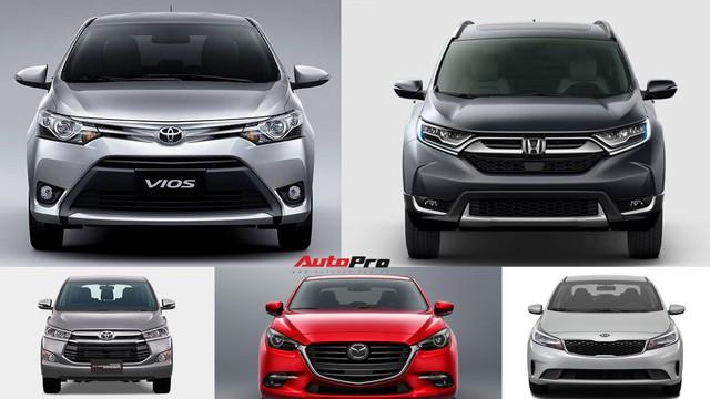 10 xe bán chạy nhất tháng 4/2018: Honda CR-V chông chênh trên top 2