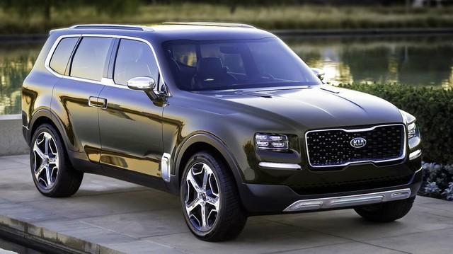SUV 7 chỗ hoàn toàn mới Kia Telluride lần đầu xuất hiện ngoài đời thực