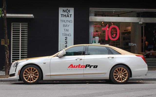 Cadillac CT6 Premium Luxury đổi màu phong cách dân chơi Dubai tại Hà Nội - Ảnh 3.