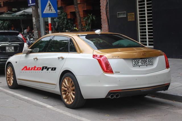 Cadillac CT6 Premium Luxury đổi màu phong cách dân chơi Dubai tại Hà Nội - Ảnh 2.