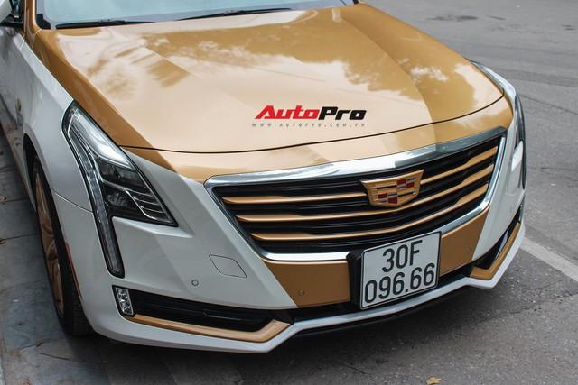 Cadillac CT6 Premium Luxury đổi màu phong cách dân chơi Dubai tại Hà Nội - Ảnh 5.