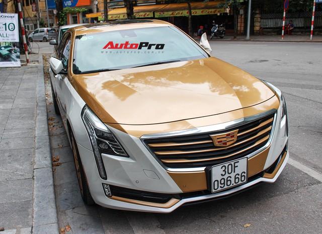 Cadillac CT6 Premium Luxury đổi màu phong cách dân chơi Dubai tại Hà Nội - Ảnh 1.