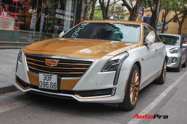 Cadillac CT6 Premium Luxury đổi màu phong cách dân chơi Dubai tại Hà Nội - Ảnh 4.